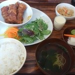 kitchen soya - 厚揚げ豚バラ肉巻きランチ