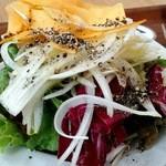 カフェ オムニバス - 野菜サラダ、セルフで取つてきました