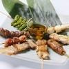 ろばた 鳥一心 - 料理写真:串焼き盛合せ(8本) 1280円