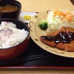来て屋 - 味噌カツ定食 650円