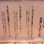 天吉屋 - 天まぶしの食仕方の講釈・・・