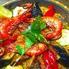 るりや - 料理写真:るりやのパエリヤは6種類、これは魚貝パエリヤ