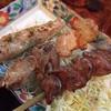 居酒屋こがんちゃ家 - 料理写真:焼き串:左からささみ、豚バラ、砂ズリ
