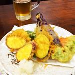 はんなり食堂 - 野菜の天ぷら(^_^)v