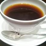 40505177 - デザートセットのホットコーヒー