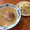 海味館 - 料理写真:豚骨ラーメン+五目炒飯 (ランチタイムサービス 麺・飯セット) 680円
