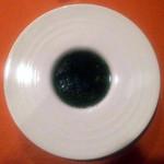 """テート・ア・テート - 四谷フレンチ""""tête-à-tête""""ディナーコースアミューズオマール海老入り大山鶏のブイヨンで作ったモロヘイヤのスープ[2015.08]"""