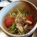 鮨みやもと - おまかせコースのサラダ