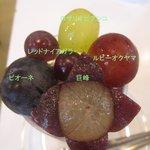 フルーツパーラーフクナガ - 大好き葡萄パフェ