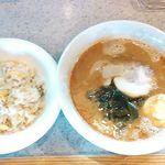中華食堂 好好 - ランチメニューのラーメンセット タンタン麺+チャーハン(ハーフ)