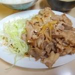 かんだ食堂 - 豚生姜焼定食(アップ)