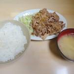 かんだ食堂 - 豚生姜焼定食