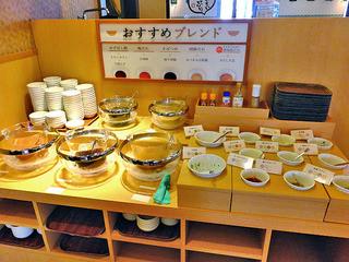 しゃぶ葉 - タレ・薬味のカウンター(2015年8月)