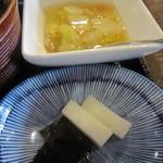 てんぷら 荘司 - 「白菜ベーコン煮浸し」「香の物」