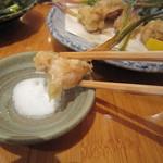 蕎麦遊膳 花吉辰 - はさみ揚げアップ
