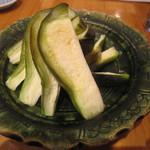 蕎麦遊膳 花吉辰 - 「水なす浅漬」