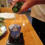 蕎麦遊膳 花吉辰 - 「冷酒」のサービスははこのように