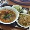 天一坊 - 料理写真:「豚バラチャーハンとラーメンセット (840円)」→「ラーメンを坦々麺に変更 (+180円)」