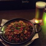 MKYアメリカンレストラン - ジャンバラヤです。 パラペーニャが効いていて旨辛でビールが進みます(笑)。