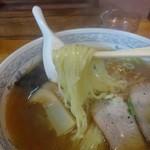 丸源食堂 - 太麺ということですが、私的には細いです