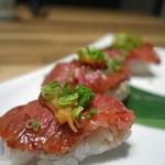 焼肉 GYUJIN - 特選黒毛和牛炙り寿司