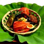 下鴨茶寮 - 八寸(=゚ω゚)ノ 鰻の小串がうまい!夏は鰻だな。