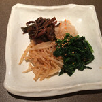 肉 ひこり - ナムル盛り合せ 450円