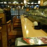 玄海寿司 本店 - カウンター席の様子