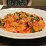 マンハッタングリル - 夏野菜のスパゲッティ