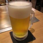 お好み焼 きじ - 20150811 生ビール 620円