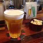 カレー アンド サンズ - おつまみとセットのおビール