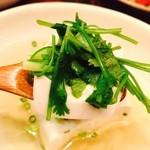 おでん・うどん ○ - 絹ごし豆腐とパクチーのコラボやわ♡