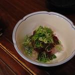 磯料理ヨット - 鯛のヌタです。こんな食べ方初めてでしたが良いですね〜