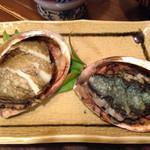 磯料理ヨット - アワビがちっさかったからと2個出てきました。柔らかくて旨味凝縮。