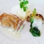 レストラン・マッカリーナ - 知床トリ肉ソテー レモンとタイム風味のソース&季節の野菜とジャガイモを一緒に