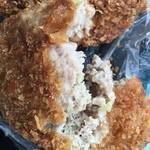 松野精肉店 - メンチ、肉がビッシリ
