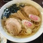 手打ちラーメン 恒 - Aセットのラーメン(醤油)