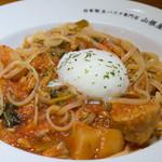 山根屋 - ごった煮風トマト煮込みソース(ランチセット890円)