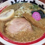 竹本商店 - 2015/8/12鰹そば800円細麺、背脂(中)