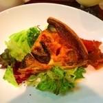 香月珈琲店 - 茄子とベーコンのキッシュ