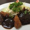 グリルABC - 料理写真:サービスランチ 一口カツとハンバーグ  1080円