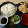 つきじ知足亭 - 料理写真:天ぷら稲庭うどん