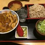 40859705 - カレー丼セット(そば普通盛り)