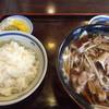 Kisobatakayama - 料理写真:肉南ばん蕎麦と半ライス