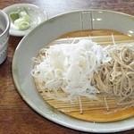 志な乃 - 相盛り蕎麦 全景