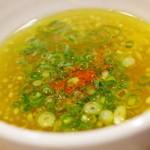 塩つけ麺 灯花 - つけ汁