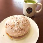 タリーズコーヒー - 宇治抹茶ラテ&ナッティーココナッツパンケーキ