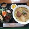 ばっしらいん - 料理写真:宮古そば 海ぶどう丼セット¥1080