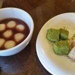 みよし野 - わらび餅と白玉ぜんざい
