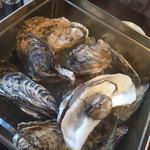 浜の牡蠣小屋 - ガンガン焼き
